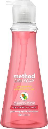 メソッド 食器用洗剤 本体 ポンプタイプ ピンクグレープフルーツの香り 532ml