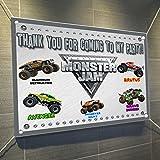 Monster Jam Monster Truck大ビニールバナー屋内または屋外サインポスターBackdrop、パーティーFavor装飾、30インチx 24インチ、2.5 ' X 2 '
