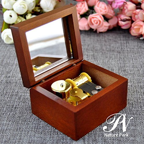 Nature Park ミニシンプル18Nタイプオルゴール 宝石箱 木製 プレゼント ボックス アンティーク 音楽 恋人誕生日 ギフト最適 君をのせて