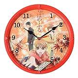 ちはやふる時計 百人一首をイメージした和柄の掛時計 赤色 CHY-01-RD