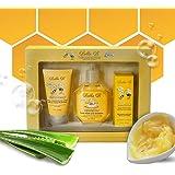 Bella B 3-Piece Baby Bath Gift Set- Baby Shower Gifts - Baby Body Wash - Baby Lotion - Organic Diaper Rash Cream - Baby Body