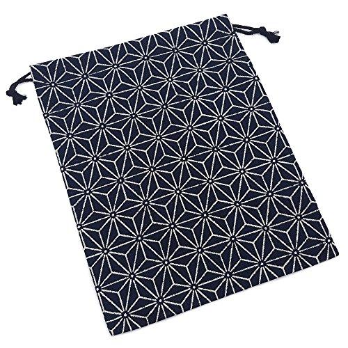 巾着袋 麻の葉文様 和小物 和雑貨 和風小物 和柄 巾着入れ