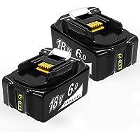 【Amazon 限定ブランド】bl1860b マキタ18vバッテリー 6.0ah BL1860 マキタ 18v 互換バッ…
