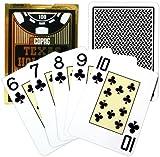 Copag PokerサイズジャンボインデックステキサスHoldem Playing Cards (Singleブラックデッキ)