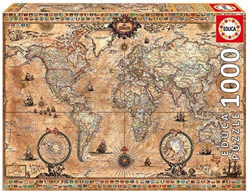 アンティーク 世界地図 1000-Piece ジグソーパズル