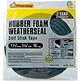 Frost King R338H Sponge Rubber Foam Tape 3/16-Inch, Black, R516H