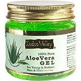 Indus Valley 100% Organic Pure & Natural Aloe Vera Gel For Skin & Hair | Aloe Vera Gel Moisturizes Skin | Soothes irritated S