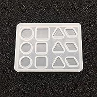 Homyl シリコーン金型 手芸モールド 幾何学 樹脂鋳型 多機能 ジュエリー 手工芸品