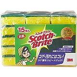 3M キッチン スポンジ 抗菌 コゲ落とし 15個 スコッチブライト S-21KS 15PC