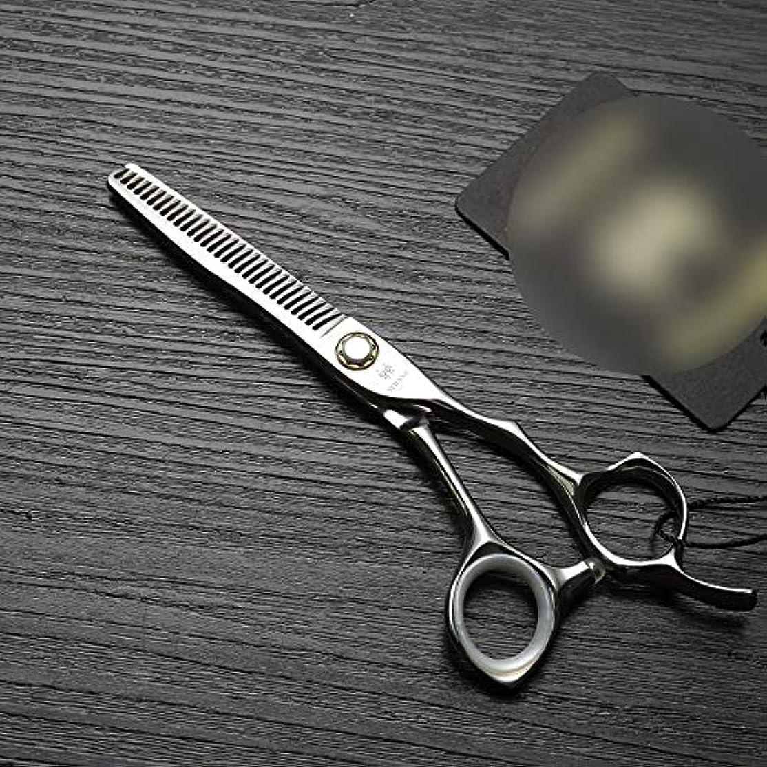 回る重々しい激しい理髪用はさみ 6インチプロフェッショナル理髪はさみ、ベアリングねじ、ステンレス鋼のはさみはさみヘアカットはさみステンレス理髪はさみ (色 : Silver)