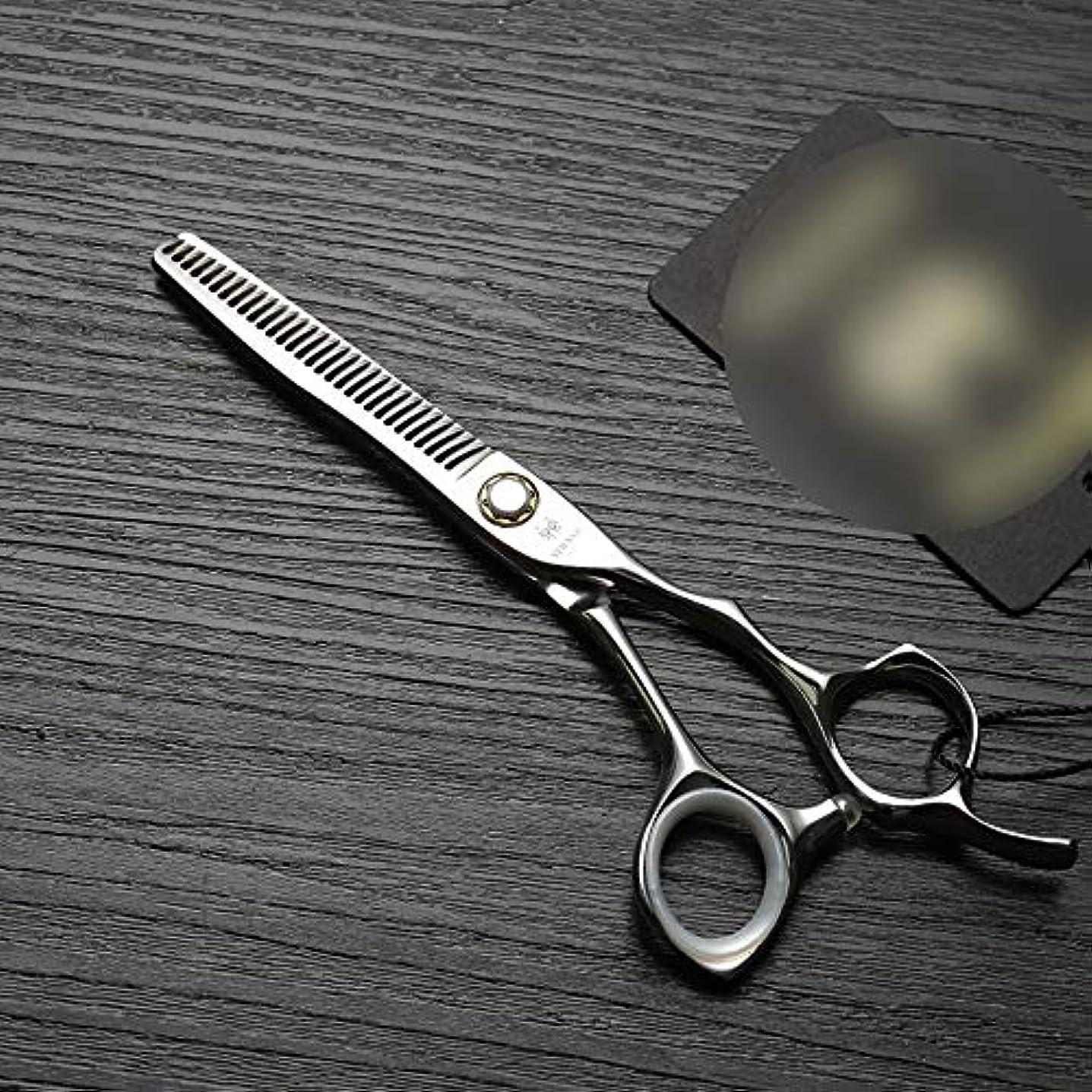 局深い世界記録のギネスブックHOTARUYiZi 散髪ハサミ カットバサミ 耐久性 プロ ヘアカット 散髪はさみ セニング すきバサミ カットシザー 品質保証 美容院 専門カット 6インチ 髪カット (色 : Silver)