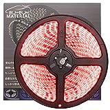ぶーぶーマテリアル 色が綺麗なLEDテープ レッド 赤 600 LED 白ベース 5m 12V 防水