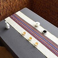 テーブルランナー シグネチャーコットンテーブルランナー仏教ムードティーテーブルクッションエスニックスタイルテーブルフラッグベッドランナー ( 色 : B , サイズ さいず : 35*80cm )