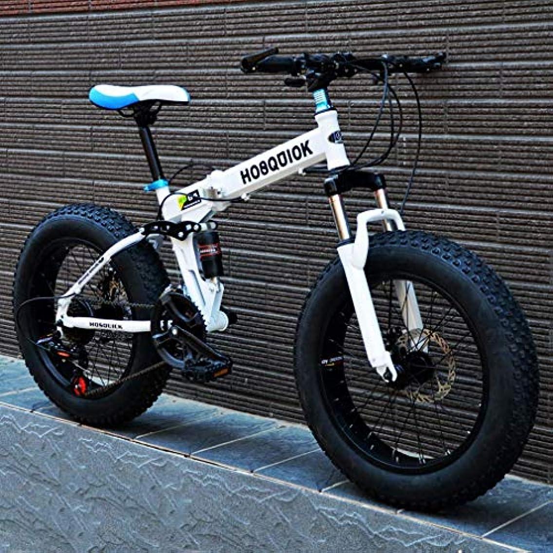 受益者火山学感嘆符ファットタイヤメンズマウンテンバイク、ダブルディスクブレーキ/高炭素鋼フレームバイク、7スピードビーチスノーモービル自転車、アルミ合金ホイール、ブラック、24インチ