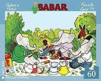 ニューヨークパズル会社–Babar Babarのピクニック–60ピースジグソーパズル