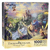 Disney Parks Thomas Kinkade Beauty and the Beast Falling in Love Puzzle 1000 ... [Floral] [並行輸入品]