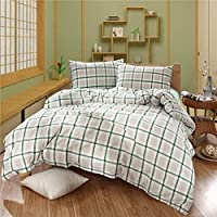Techecho 3点セット ベッドコットン 洗濯セット リンスコットン ネイキッドキルト 3ピースカバー ホーム家具用 2.0m グリーン Techecho