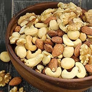 大粒アーモンド&クルミ使用! 無添加・無塩の最高級4種ミックスナッツ 4種類のナッツ 1kg入り