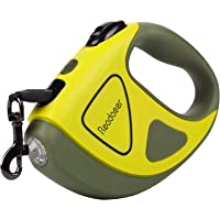 Reodoeer LED埋め込み式 犬リード 伸縮リード 犬用リード 自動巻き 反射光 夜間散歩 長さ3m 荷重50kg…