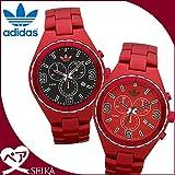 アディダス 時計 (k15) (ペア価格) アディダス adidas ケンブリッジ ADH2614 メンズ ADH2620 レディース 時計 腕時計 ペアウォッチ レッド ブラック [並行輸入品]
