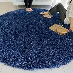 なかね家具 インポートラグ BALTA SUPER SHAGGY デザイン シャギー ラグマット 6500090 200R(円形)