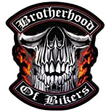 Hot Leathers Brotherhood Of Bikers ワッペン(幅4インチ x 高さ4インチ)