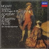 モーツァルト:交響曲第25番,第38番「プラハ」,第39番
