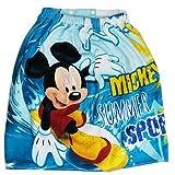 丸眞 ディズニー ミッキーマウス 60cm丈 巻きタオル ウェーブミッキー 綿100% 60×120cm 2095001800