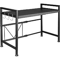 レンジ上ラック レンジラック 伸縮式 幅(40~60cm) 棚板高さ調節可 耐荷重70kg