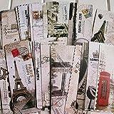 ブックマーク 世界の名所 しおりセット 世界の風景 しおり ラベル 贈り物 30枚セット