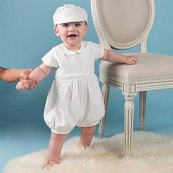 7d5ba85eb1154 Asiso ベビー服 新生児 男の子 セレモニードレス カバーオール お帽子付き 2点セット 半袖 お宮参り