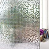 LEMON CLOUD 3d No Glue Static Decorative Privacy Mini Mosaic Window Film for Glass (17.7In. By 78.7In, color 3) [並行輸入品]