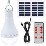 Solar Light Bulb Outdoor Portable Rechargeable Solar lamp Lights for Home Yard Patio Umbrella Chicken Coop Pet House Blackout