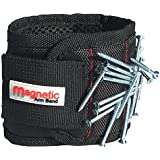 Magnetic Wristband, Magnetic Arm Band - 10 Strong Neodymium Magnets embedded throughout wristband for holding nails, screws, bits, fasteners, washers, bolts, small tools, and much more. Perfect gift!