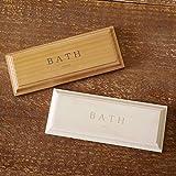 BREA-030BBR 日本製 ドアプレート BATH バスルーム お風呂 サインプレート (ブラウン)