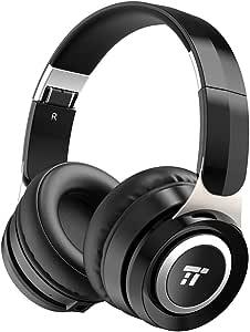TaoTronics 防音 ヘッドホン Bluetooth 204g 超軽量 高音質 22時間連続再生 密閉型 遮音 内蔵マイク 有線無線兼用 調整可能なヘッドバンドとイヤーカップ TT-BH048