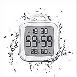 Digital Shower Clock with Timer, Waterproof Bathroom Clocks, Indoor Temperature and Humidity Monitor Gauge, Digital Hygromete