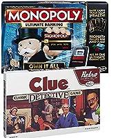 バンドルIncludes 2アイテム–Monopoly Game :究極Banking Edition andレトロシリーズClue 1986Edition Game
