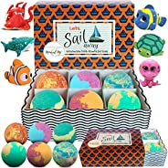 Kids Bath Bombs with Toys Inside - Gentle and Kid Safe, Gender Neutral, Bubble Bath Fizzies with Surprise Insi