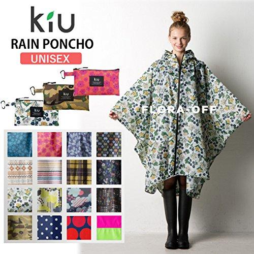 kiu(キウ) RAIN PONCHO キウ レインポンチョ k15/フェスで活躍男女兼用アウトドアポンチョ/フジロック 023カモフラージュ F