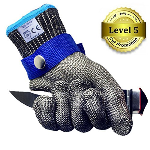 防刃手袋 作業用手袋 軍手 ステンレス鋼メッシュ防護手袋 切れない グローブ(片手)左右 兼用
