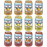 ※ご自宅用となります サンペレグリノ スパークリングフルーツべバレッジ 330ml(缶)3種類各4本・合計12本