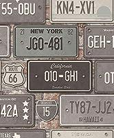 ew3602–Urbanリビンググレー&テラコッタ番号プレートGalerie壁紙