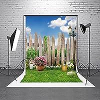 HMT 5x 7ft150cmx220cm )写真バックドロップガーデンフェンスBackdrop素朴なバックドロップ花壁背景ヴィンテージ背景for Photo Studio