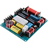 Perfk 3 Way Speaker Crossover Frequency Divider Audio System with 4 Inductors
