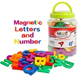 USATDD 80PCS Large Magnetic Alphabet Letters and Numbers Fridge Magnets Colorful ABC 123 Refrigerator Educational Toy Prescho