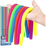 BunMo Multi Item Stretchy Strings Fidget Toy 6PK - Calming Sensory Stretchy Strings Anxiety Relief Items