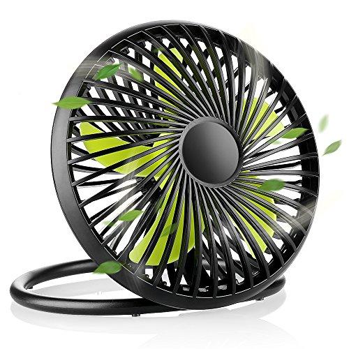 EASEHOLD 卓上扇風機 小型扇風機 ミニ扇風機 USB...