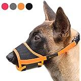Heele Dog Muzzle Nylon Soft Muzzle Anti-Biting Barking Secure,Mesh Breathable Pets Mouth Cover for Small Medium Large Dogs 4