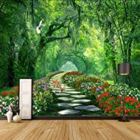 Xueshao 3Dカスタム壁紙リビングルームのソファテレビの背景家の装飾壁画森の木公園風景写真背景壁の壁画-200X140Cm